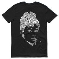 2018 Hot Sale New T Shirt Audrey Hepburn Icon Quotes Silhouette Movies Unisex Mens T Shirt