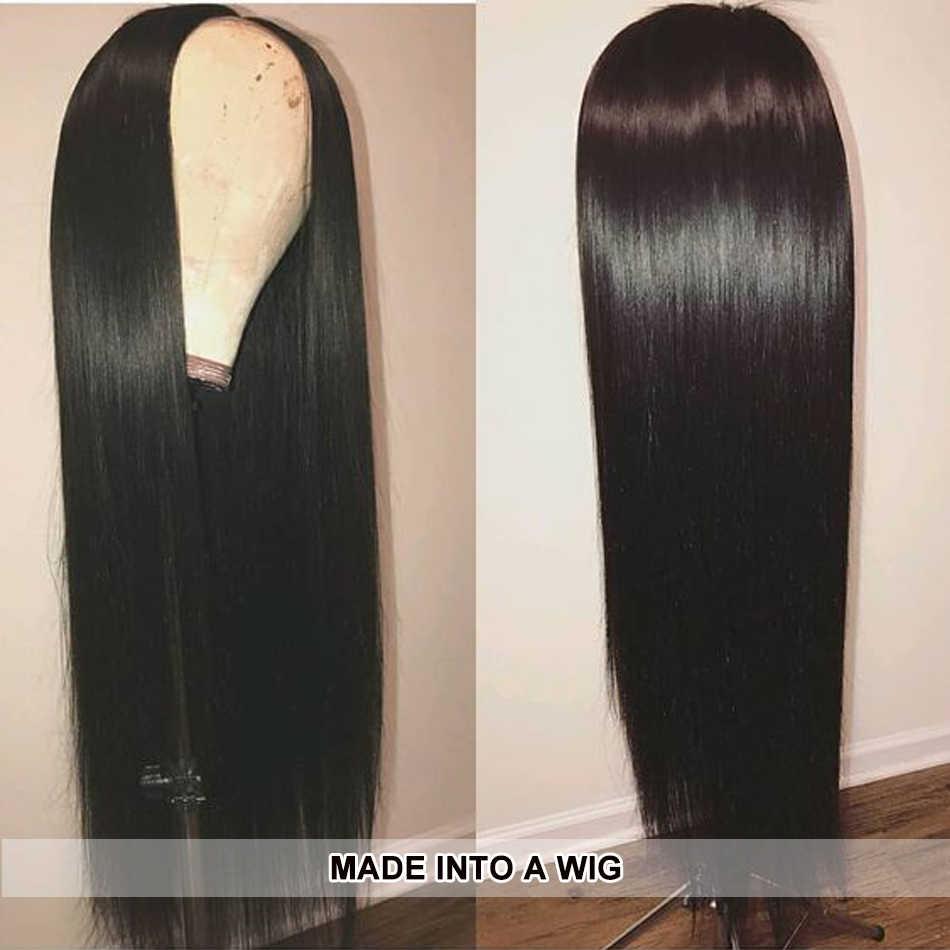 """30 дюймов пучки волос бразильские прямые волосы пучки 8 """"-30"""" человеческие волосы плетение пучки волос 1/3/4 шт. alimice длинные волосы пучки Ombre Человеческие Волосы"""