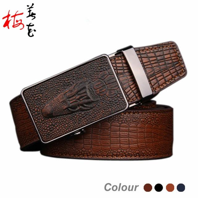 2016 croco automatic buckle genuine leather belts for men vintage mens belts luxury brand designer belt men