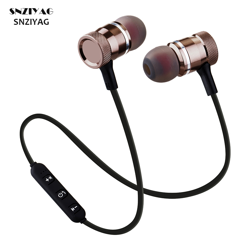 SNZIYAG LY-11 Bluetooth Wireless Headphone Sport Running Stereo Magnet Earbuds With Microphone Earphone Headset For iPhone