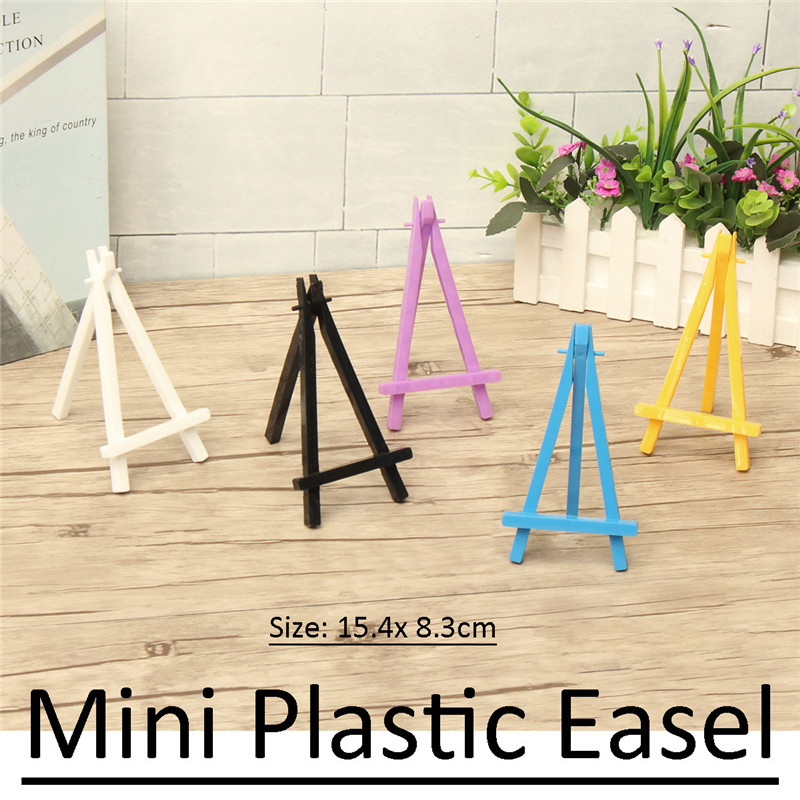 Colorful Wooden Tripod Easel Display Painting Stand Card Holder Wedding Party Mini Easels For Gifts