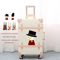 2018 по индивидуальному заказу ремень для багажа Ретро обычай чемодан geniune Кожа обычай имя Высокое качество Бесплатная доставка