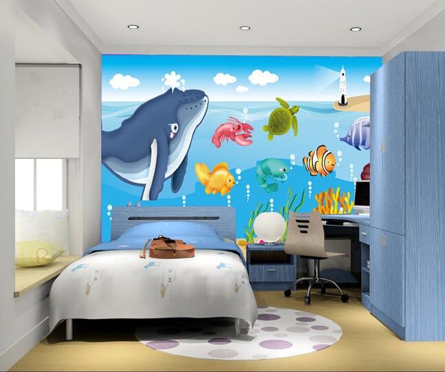 Papel personalizado de pared infantil dibujos animados de for Papel pintado personalizado