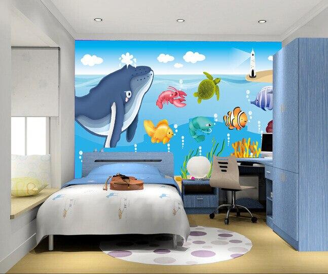 Papel personalizado de pared infantil dibujos animados de for Paginas de decoracion de interiores gratis