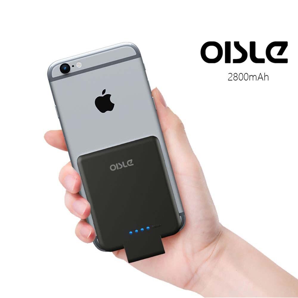 Caso Carregador de Bateria Para o iphone 8 OISLE2800mAh/7/6 (s) 5 5S SE, ultra Slim Power Bank Pack Externo De Backup Portátil Caso De Carregamento