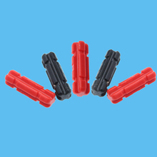 100Pcs/lot TECHNIC PART 32062 Technic Axle 2 Notched Red & Black Colors 1X2 Parts DIY Blocks Assemble Particles Brick Set