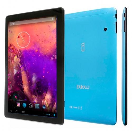 Tablet Billow 10.1 LCD HD IPS 1280x800 Quad Core 1.2 GHz 8 GB 1 GB Ddr3 WiFi Android 7.1 Double Camara Color Blue Bat 4000ma