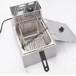 Table Counter Top Automatic Commercial Stainless Steel one tank one basket 6L Electric Deep Fryer for Sale