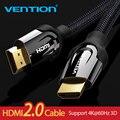 Venção HDMI Cabo HDMI para HDMI cabo HDMI 2.0 k 3D 60FPS 4 Cabo para Switch Splitter TV LCD Laptop PS3 Computador Projetor Cabo