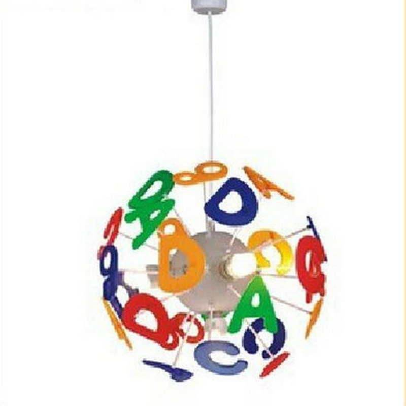 ФОТО indoor lighting pendant  lamps ABC number PVC  lights Children's room LED lamp
