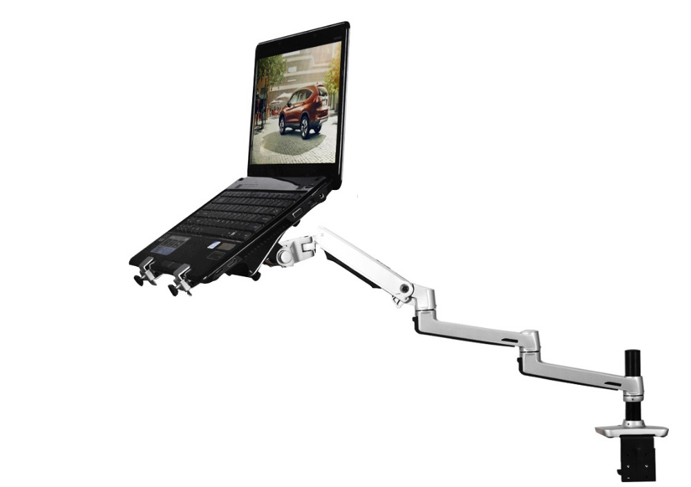 Aluminum Alloy Desktop Mount Ultra-long Arm Dual-use Laptop/ Monitor Holder Full Motion Notebook Bracket 8013T