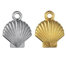 TJP 20pcs Antique Silver/Gold Tone Seashell Shell Scallop Charms Pendants for Necklaces DIY Jewelry Making Findings 13x16mm tjp 4pcs antique silver tone chandelier earring multi strand connector charms pendants for diy jewelry making findings 44x35mm