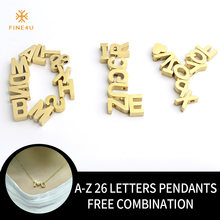 F4U N147 DIY Customized A-Z Letters Necklaces Stainless Steel Letter & Heart Pendants Necklaces Initial Name Necklaces For Gifts(China)