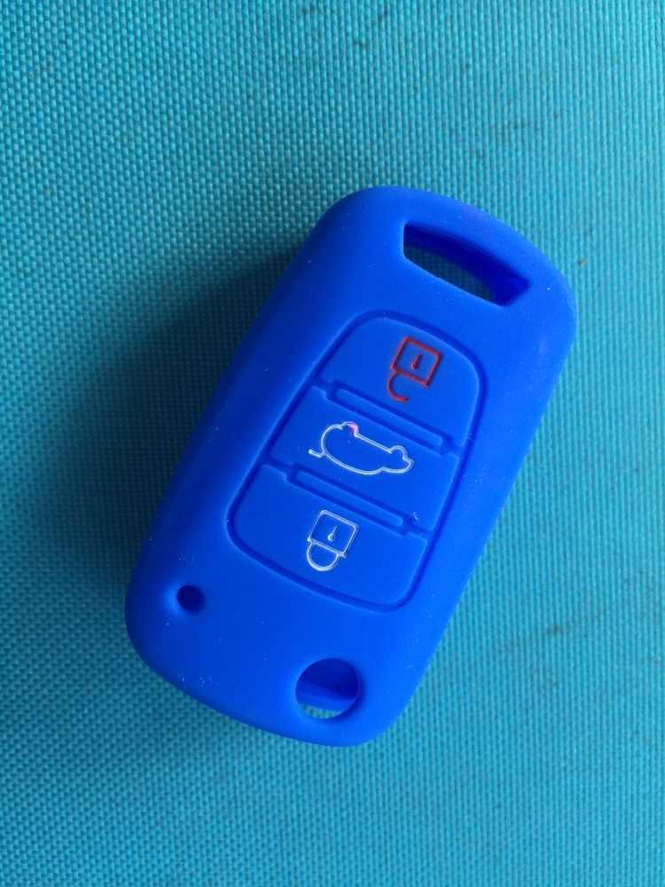 Pusakieyy 1 pcs Silicone Chave do Caso Da Tampa Para KIA Sportage Sorento picanto RIO K2 K5 Para Hyundai Solaris iX20 iX35 accent Dobrável