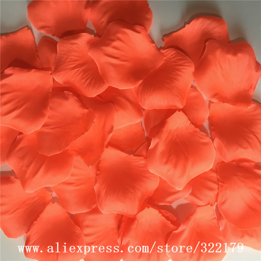 500 C Silk Rose Petals Artificial Flower Pink Neon Wedding Party Aisle Decor Confetti Bridal Shower