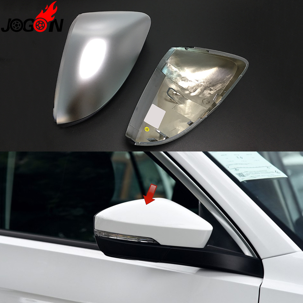 Matte Silver For Volkswagen VW T Roc 2018 2019 Car Styling Side Wing Rearview Mirror Cover