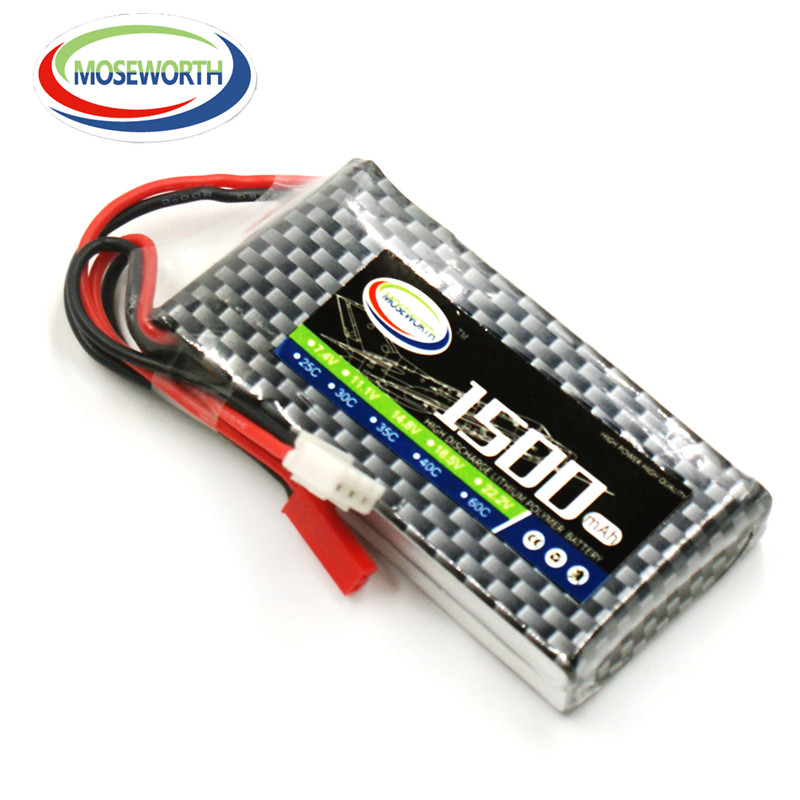 MOSEWORTH RC lipo battery 3S 11.1v 1500mAh 25C For RC Helicopter Car Boat Quadcopter Li-Polymer batteria 3s Free shipping цена и фото
