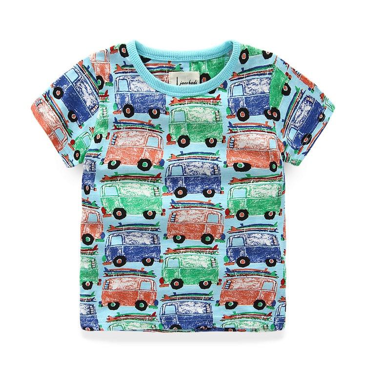 Camisetas para niños de verano 100% algodón camiseta impresa para - Ropa de ninos