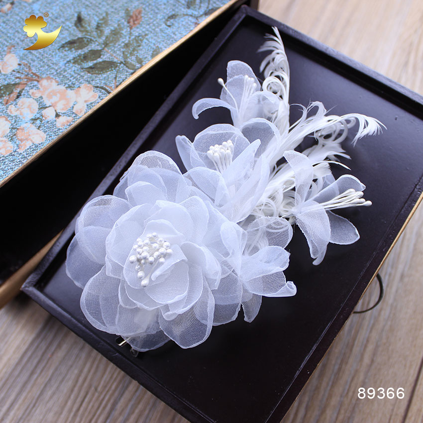 Xinyun new white flower hair clips hairgrips crystal hair jewelry xinyun new white flower hair clips hairgrips crystal hair jewelry wedding hair accessories flower barrettes bride accessories in hair accessories from mightylinksfo