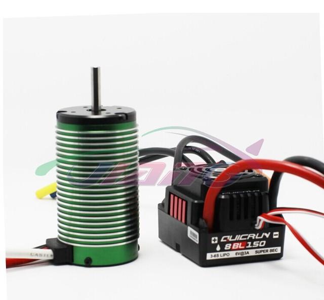 Hobbywing Quicrun WP-8BL 150 Sensorless Brushless Speed Controllers ESC+ Castle 1515 1Y motor kv2200 +Program Card for 1/8 CAR