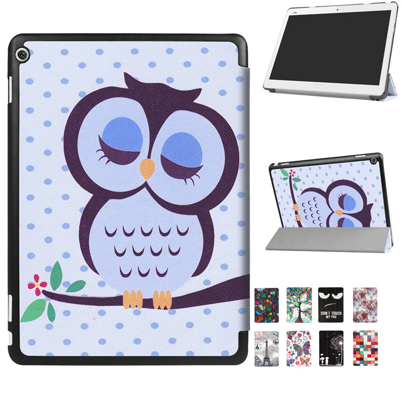 10 Style Painted Folio Stand PU Leather Cover Case For 2017 10.1'' Huawei Mediapad M3 Lite 10