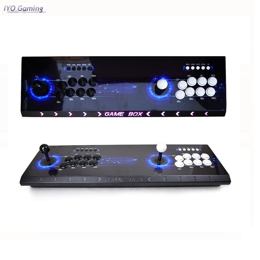 Pandora 10 2263 Console d'arcade USB Joystick boutons d'arcade avec lumière 2 joueurs contrôle rétro 3D boîte de jeu d'arcade