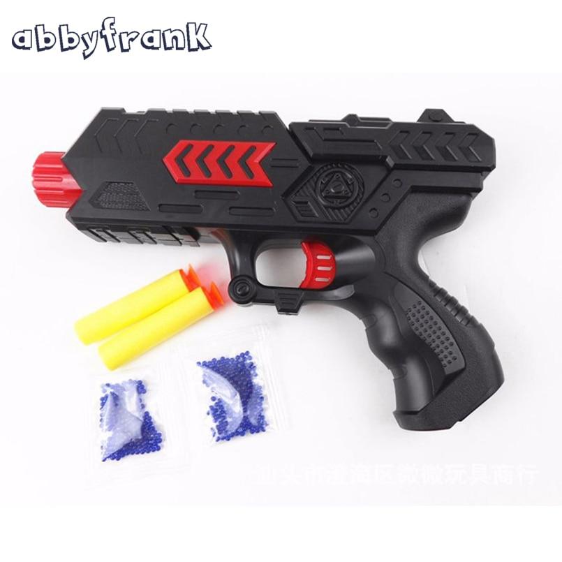 Abbyfrank Plastic Toy Gun Paintball Pistol Crystal Water Soft Bullet Air Gun CS Game Arme Arma Orbeez Toys For Children