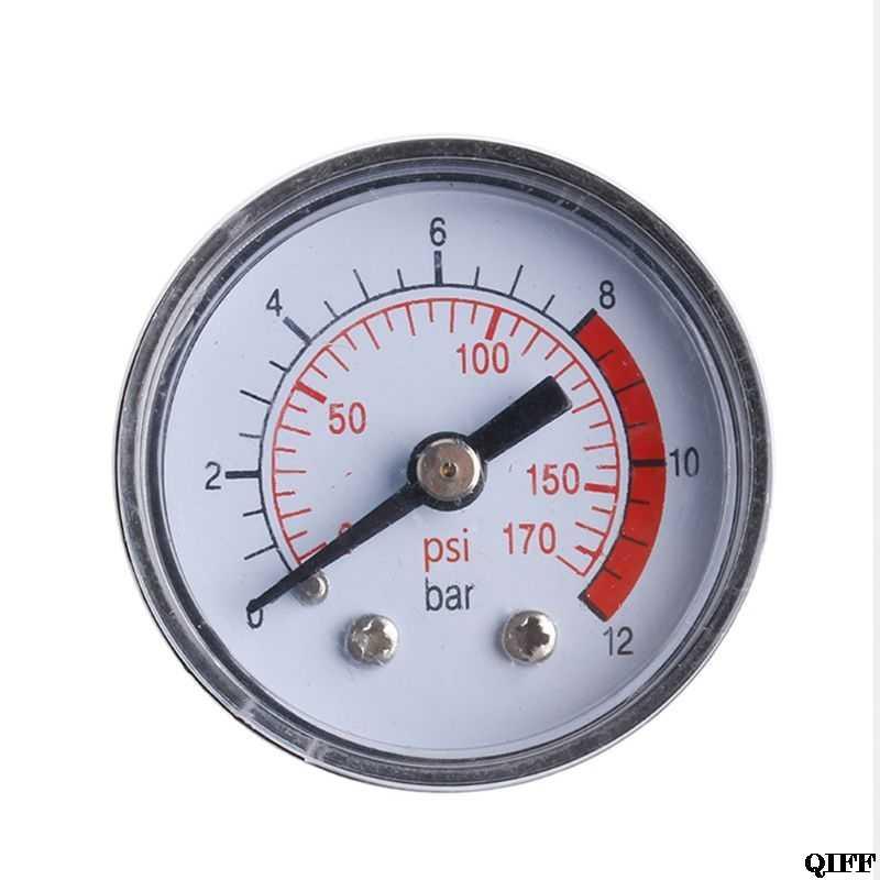 Compresor de aire Neumático Hidráulico medidor de presión de fluido 0-12Bar/0-170PSI Mar28