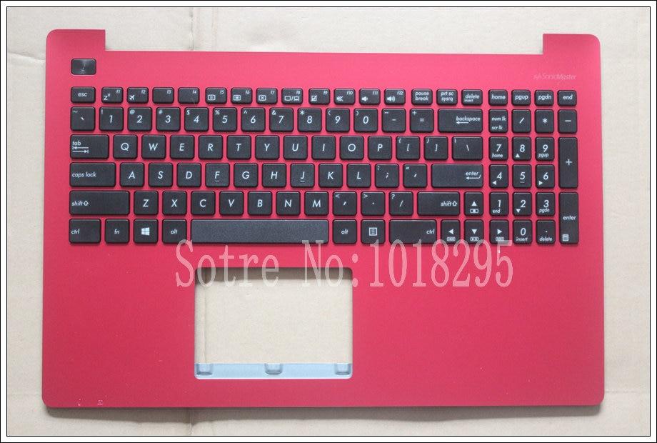 Nouveau clavier d'ordinateur portable anglais pour ASUS X553 X553M X553MA K553M K553MA F553M F553MA US clavier coque rouge