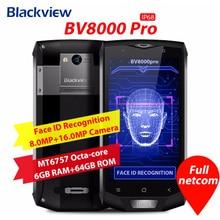 Оригинал Blackview BV8000 Pro 4 г мобильный телефон 5,0 дюймов Android 7,0 MTK6757 Octa Core 2,3 ГГц 6 ГБ + 64 ГБ 16.0MP NFC OTG Смартфон