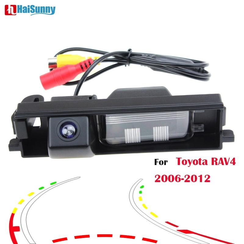 HaiSunny For Toyota RAV4 2012 2011 2010 2009 2008 2007 2006 Car Rear View Camera With Intelligent Dynamic Trajectory Tracks