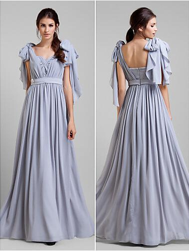 2014 Stunning Lavander A Line Chiffon Long Convertible Bridesmaid Dresses  Cap Sleeves Party Dress Fashion Prom Gowns -in Bridesmaid Dresses from  Weddings ... 80a20aa78809