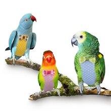 Одежда с птицами гнездо для попугая одежда пеленки летный Костюм Летающий костюм моющийся подгузник с бабочкой одежда с птицами пеленки