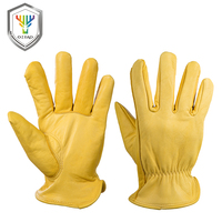 OZERO Men S Work Gloves Goat Leather Security Protection Safety Cutting Working Repairman Garage Racing Gloves