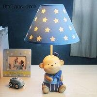 Cartoon niedliche kleine affe schreibtisch lampe kinder schlafzimmer junge schlafzimmer nacht lampe kreative LED desktop dekorative lampe-in Tischlampen aus Licht & Beleuchtung bei