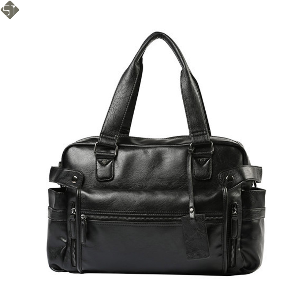 High Quality Leather Men's Travel Bags Large Capacity Men Messenger Bags Travel Duffle Handbags Men's Shoulder Bags-in Travel Bags from Luggage & Bags    1
