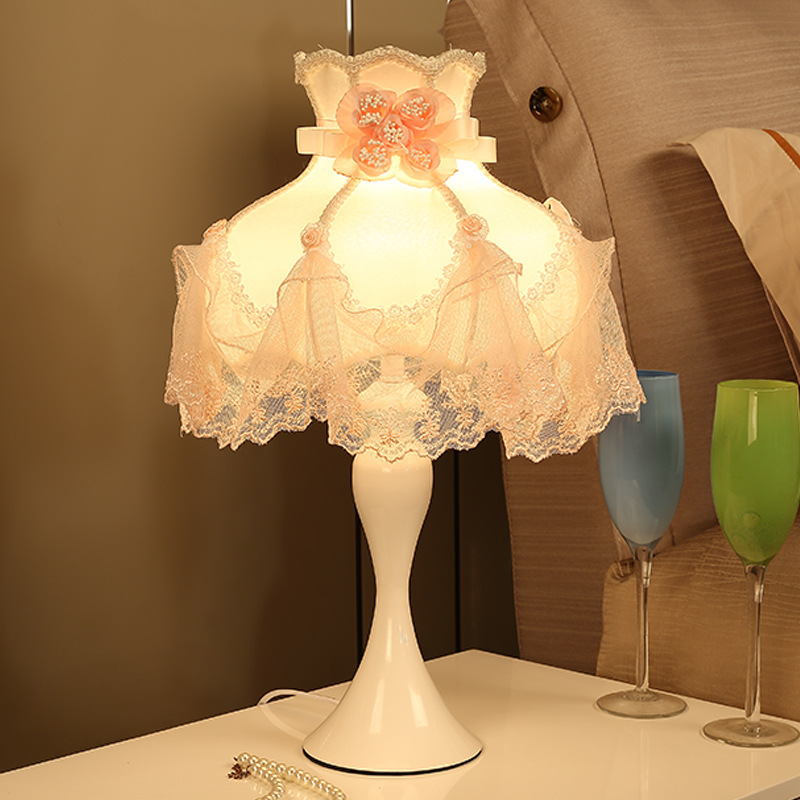 Gifts For Wedding Night: TUDA Iron Table Lamp Wedding Gifts Home Decoration Lace