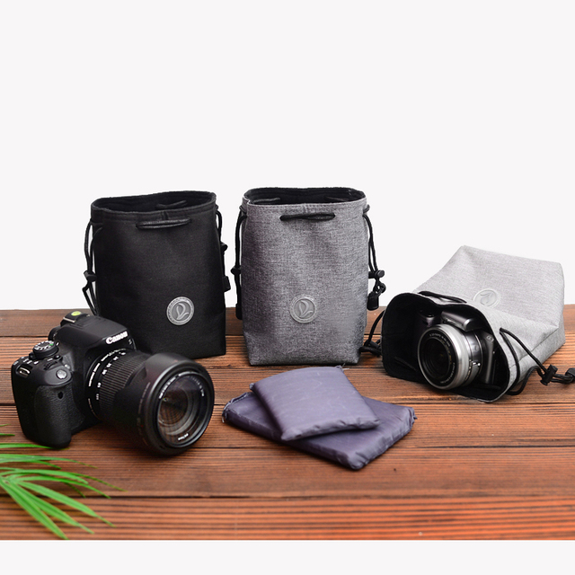 Trekkoord Shockproof Camera Balk Zakken Doek Beschermende Lens Bag Voor Canon Nikon Fuji Sony Panasonic Olympus