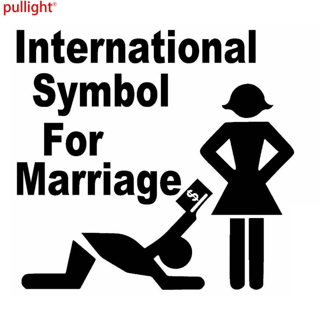 International Symbol For Marriage Graphic Die Cut Decal Sticker Car