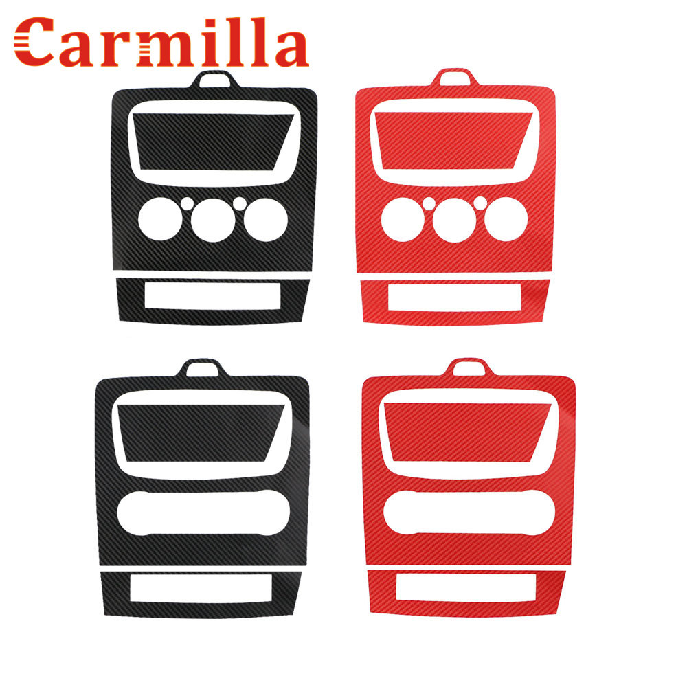 Carmilla 3 Colors 3D Carbon Fiber Car AC Console Protector Sticker For <font><b>Ford</b></font> <font><b>Focus</b></font> 2 2009 <font><b>2010</b></font> 2011 2012 2013 Modification image