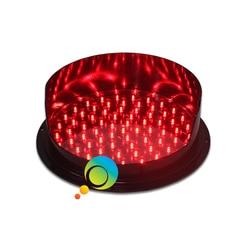 DC12V alto brillo LED rojo módulo semáforo 300mm señal de tráfico con visera