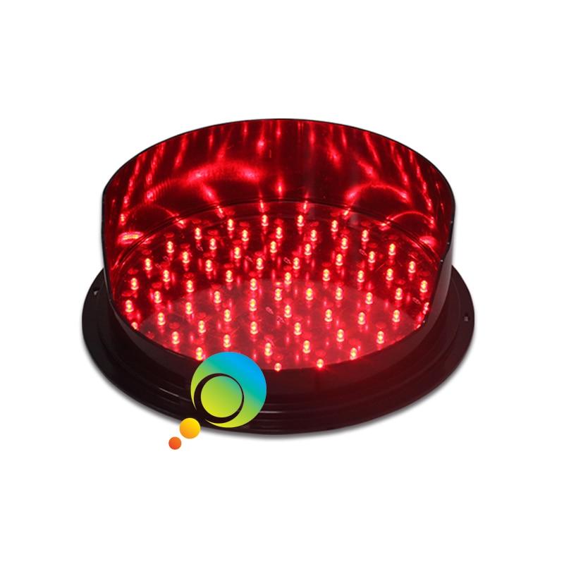 DC12V  High Brightness Red LED Traffic Light Module 300mm Traffic Signal Light With Visor