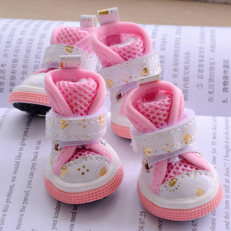 36fa5f0b8e7fc Shining Love Shoes For Dogs Of Small Breeds Summer Breathable Fashion  Puppies Non-slip Pet