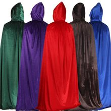 Halloween Witch Adult Cloak Costume Purple Green Red Black Cloak Party Stage Props Costume Female Men's Cloak Universal COSPLAY(China)