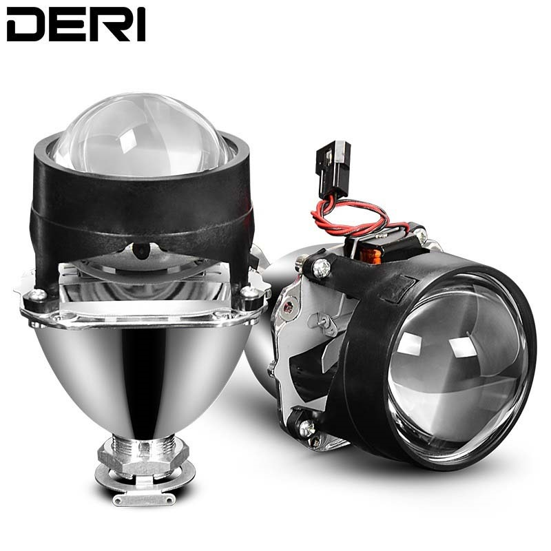 Car Headlights Retrofit Styling Mini HID H1 2.5 Inch Bi-xenon Projector Lens Headlight Lenses Fit H4 H7 Auto Use H1 Bulb LHD RHD