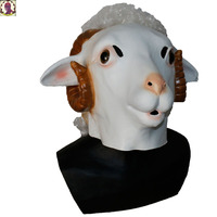 2018 Hot Selling Vivid Real Lovely Sheep Full Face Latex Mask Halloween Cosplay Party Mask