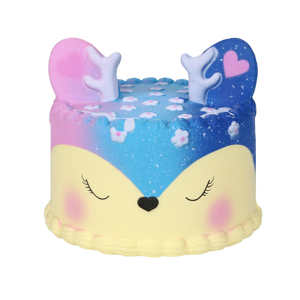 Stress Relief Toy Amicable Squeeze Soft Galaxy Jumbo Deer Cake Slow Rising Scented Squeeze Stress Relief Toy Collection Funny Gift Z0325