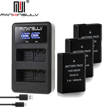 3x EN-EL14 en el14 battery + charger for Nikon D5300 SLR camera battery D5600 D5100 D5200 D5500 D3500 D3400 D3300 D3100 Tracking все цены