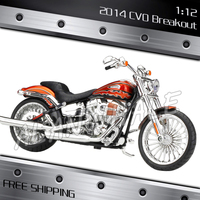 1:12 Scale Harley 2014 CVO BREAKOUT Metal Diecast Model Motorcycle Motorbike Racing Cars Kids Boys Vehicle Moto GP Collection