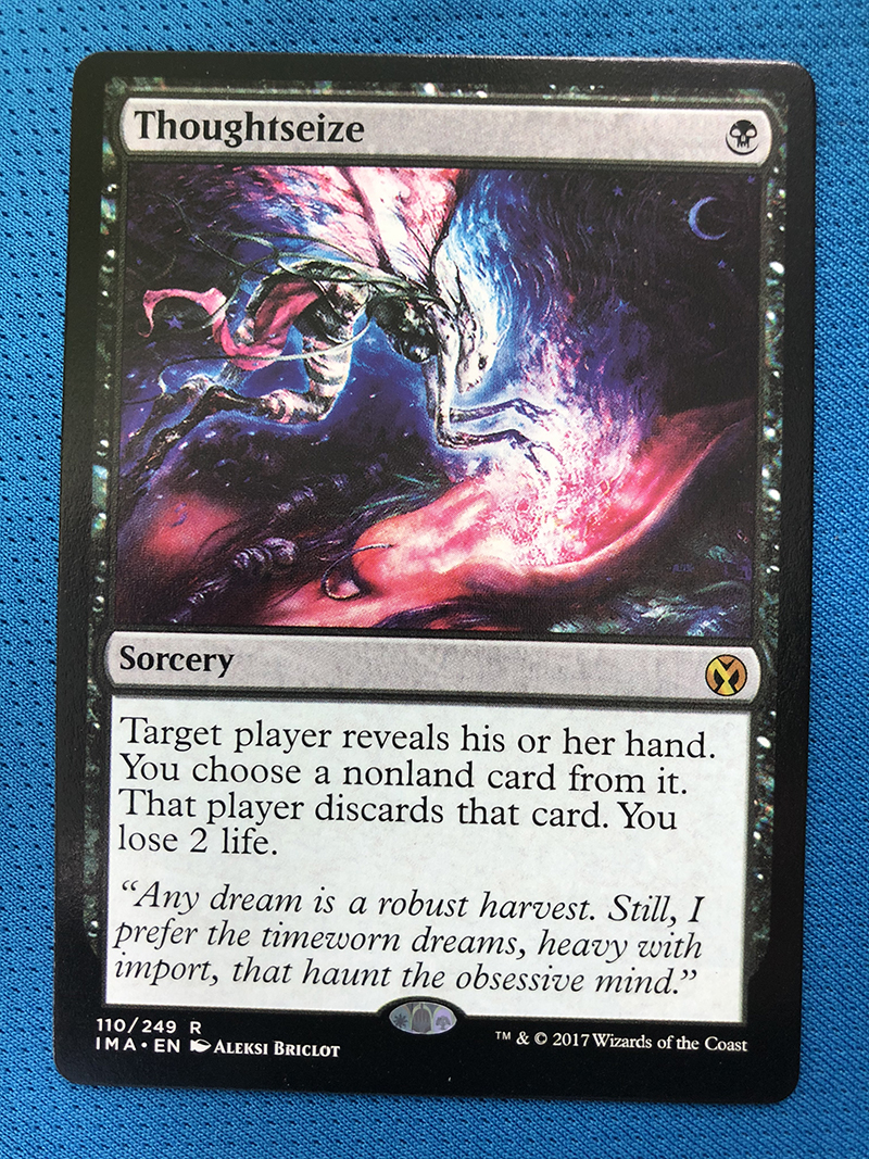 Thoughtseize IMA Hologram Magician ProxyKing 8.0 VIP The Proxy Cards To Gathering Every Single Mg Card.